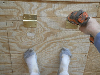 Attaching Attic Access Door Hinges to Ceiling