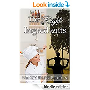 http://www.amazon.com/Right-Ingredients-Nancy-Shew-Bolton-ebook/dp/B00NR22X1C/ref=sr_1_1?ie=UTF8&qid=1411917783&sr=8-1&keywords=the+right+ingredients