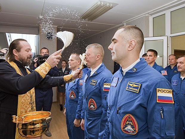 Soyuz lançamento Cazaquistão (Foto: Sergei Remezov/Reuters)