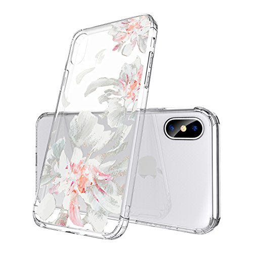 Mosnovo Iphone X Case Iphone 10 Clear Case White Floral Flower