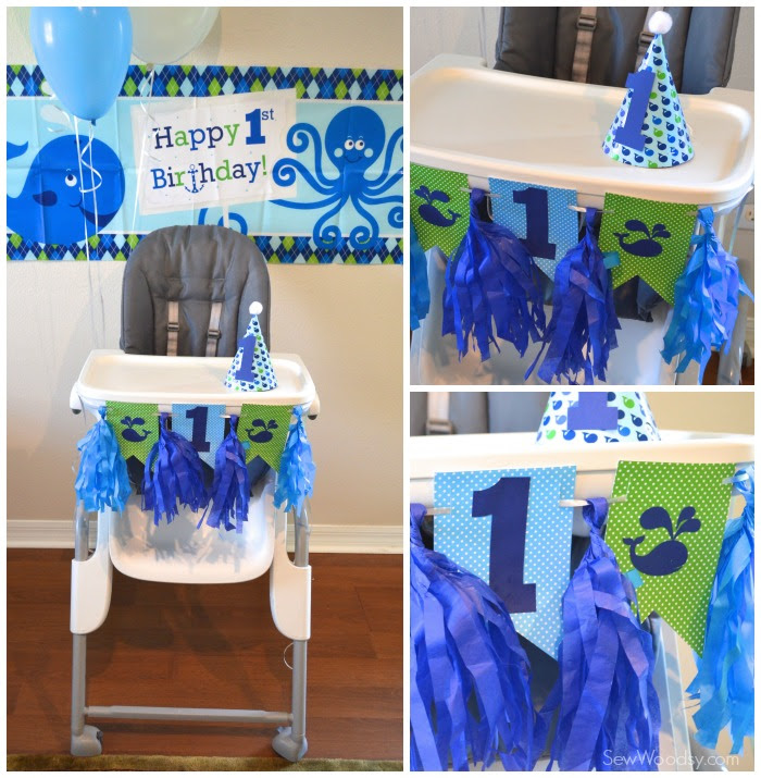 Whale 1st Birthday Party Sew Woodsy