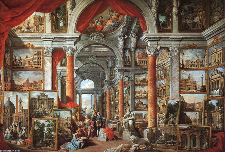 Resultado de imagem para giovanni paolo pannini, galleria de pinturas
