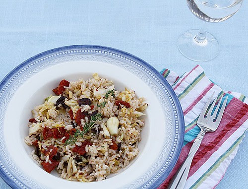Rice with Cabbage, Olives