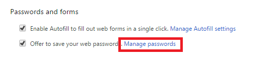 Manage Saved Password In Chrome, Firefox, Opera And IE