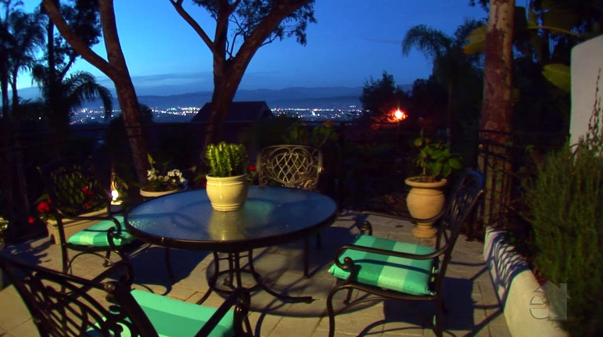 The house also has an elevated patio with gorgeous views of the city.