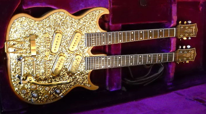 Gold double neck