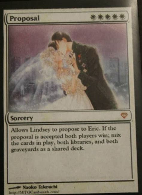 Surprise marriage proposal via Magic: The Gathering