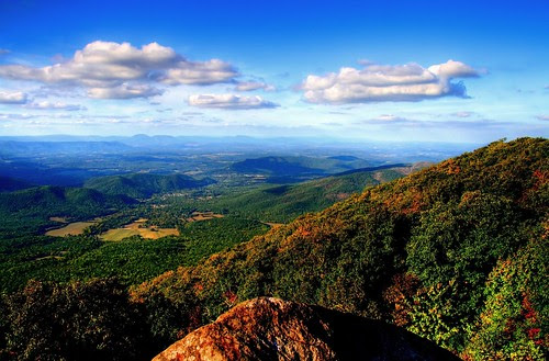 October in the Blue Ridge Mountains