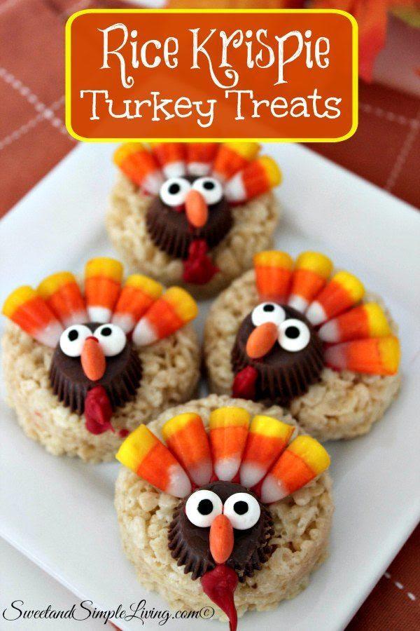 Rice Krispie Turkey Treats - Sweet and Simple Living
