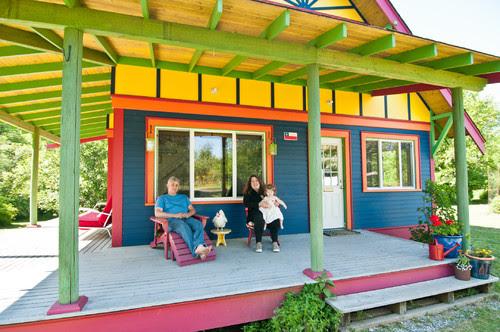 Bright beach house