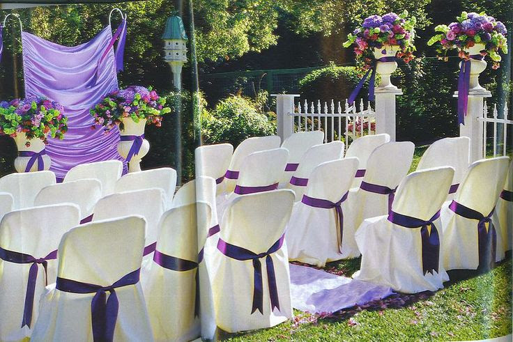 backyard wedding ideas, purple lavender and green wedding colors