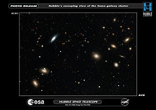 Cúmulo de Coma por Hubble