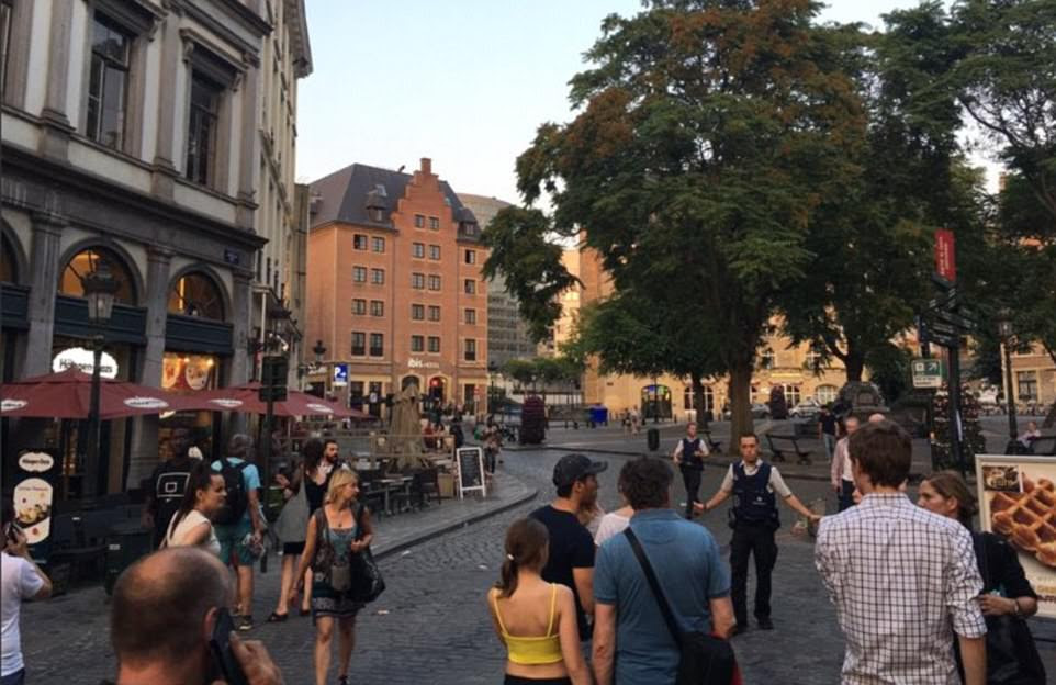 Revellers making the most of the hot evening were told to leave the area and within a few minutes nearby shops and restaurants were shutting down