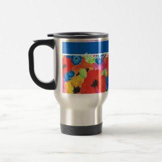Customizable Poppies and Cornflowers Travel Mug