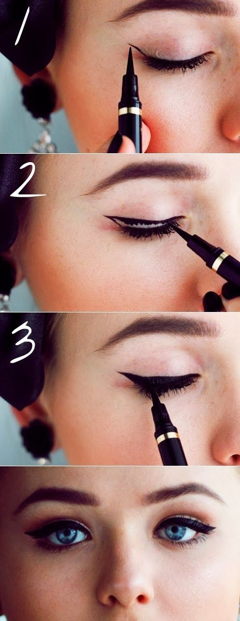 How to draw a perfect cat eye ... every time