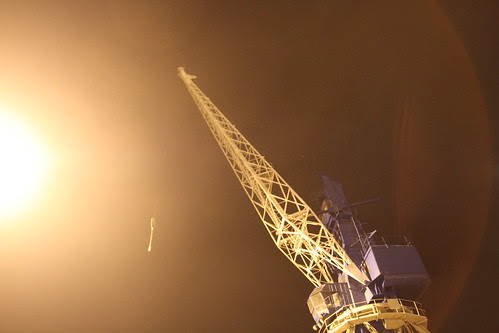 Intimidating crane at Tallinn Port