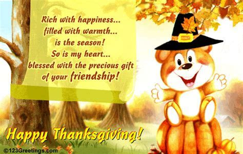 The Precious Gift On Thanksgiving  Free Friends eCards
