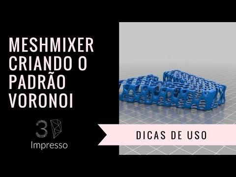 MeshMixer - ciando o padrão VORONOI - Impresso 3D