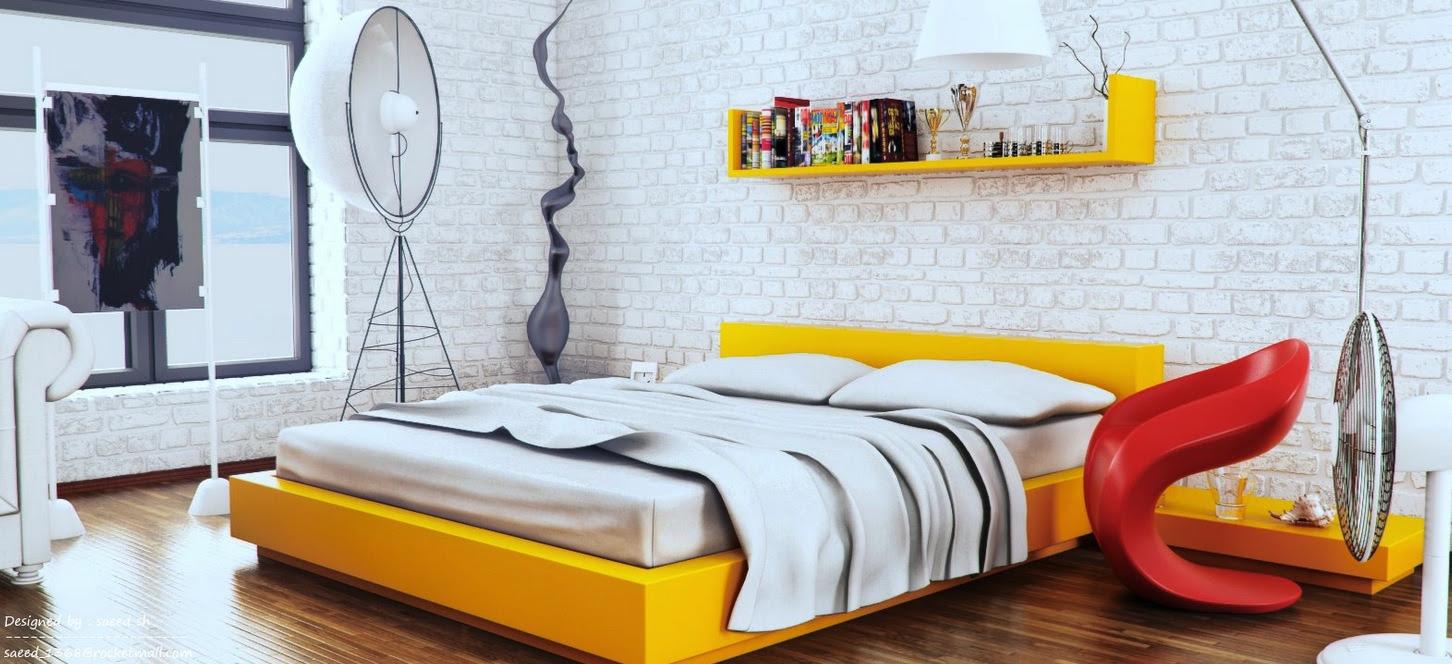 Home Architec Ideas Bedroom Red And White Interior Design
