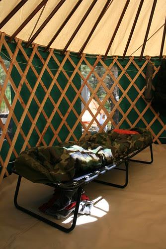 Cot in Yurt