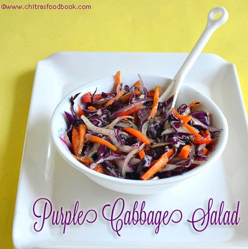 Purple Cabbage Red Cabbage Salad Recipe Chitra S Food Book