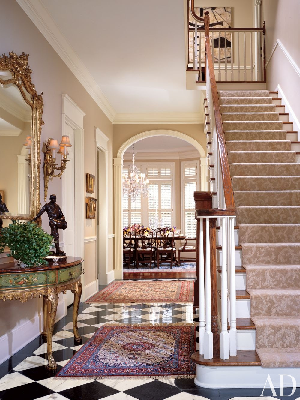 Traditional Entrance Hall by G. P. Schafer Architect by ...