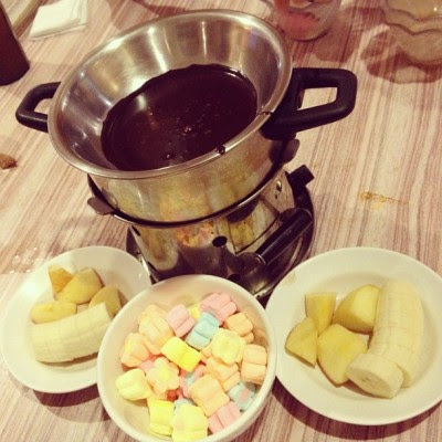 Chocolate fondue!:D #dessert (Taken with Instagram)
