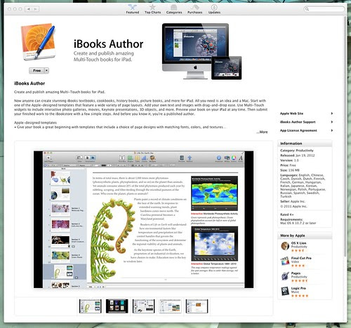 Off On A Tangent: iBooks Author is in the App Store
