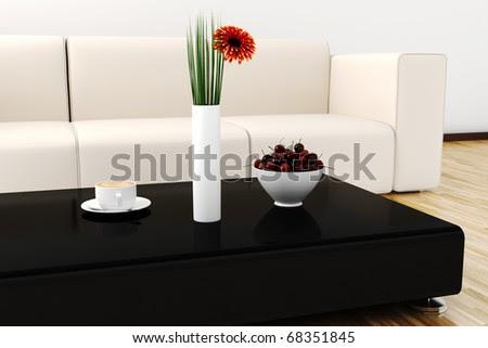 3d Interior Design Lit By Warm Daylight Stock Photo 683
