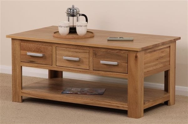 Rivendell Solid Oak 6 Drawer Coffee Table