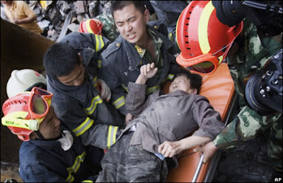 Wenchuan Earthquake; Copyright AP