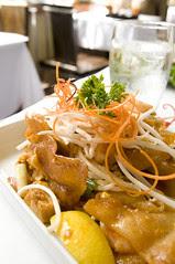 Crispy Wide Rice Noodle Pad Thai, Koh Samui and The Monkey, San Francisco