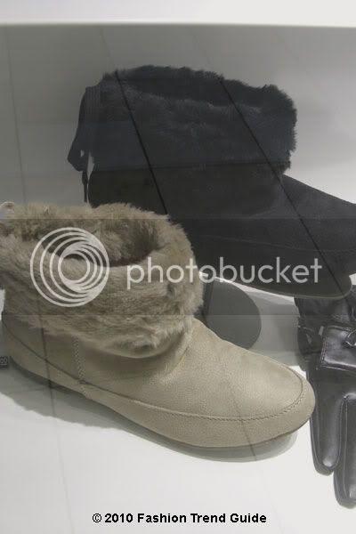 faux fur cuff flat boots