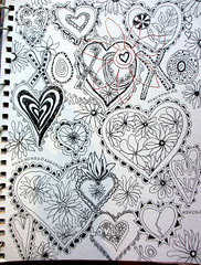 hearts doodle