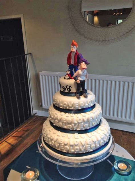 My Futurama Cake Topper in action!!   Weddingbee Photo Gallery