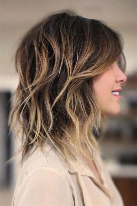 shoulder length hairstyles  thick hair women hairstylo