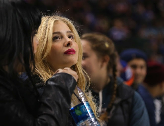 Chloe Moretz at Islanders Game in Brooklyn -06