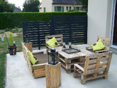 Energ 39 sens salon de jardin en palettes - Salon de jardin payable en plusieurs fois ...