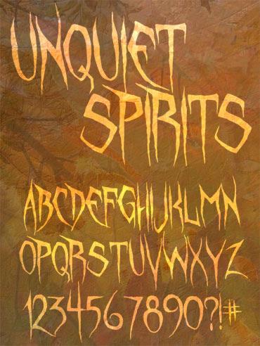 Unquiet Spirits Font