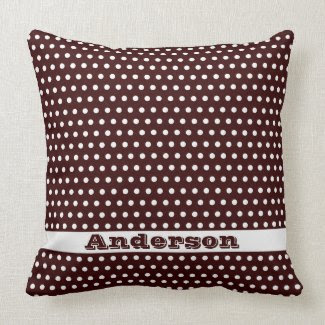 Perfect Polka Dots Pattern throwpillow
