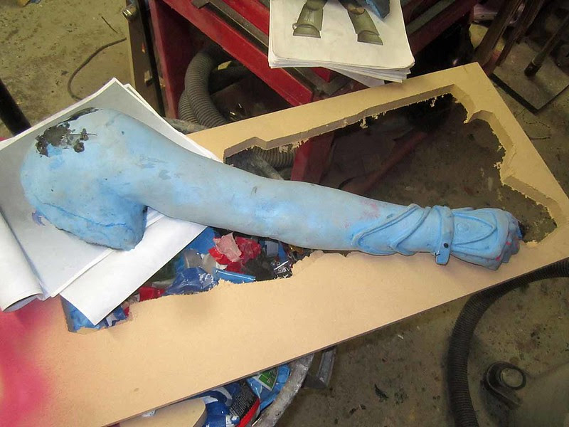 Arm Cast Before Painting