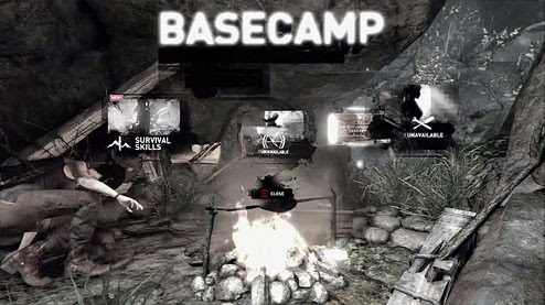 Base Camp screenshot from the new Tomb Raider