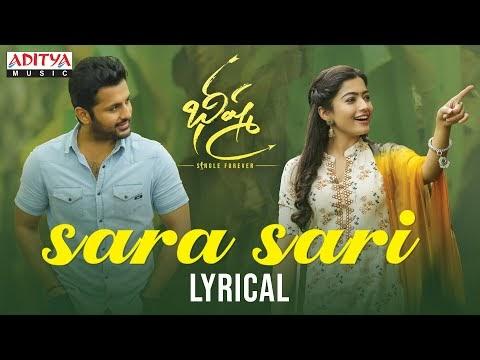 Sara Sari Song Lyrics from Bheeshma (Telugu) (2020)
