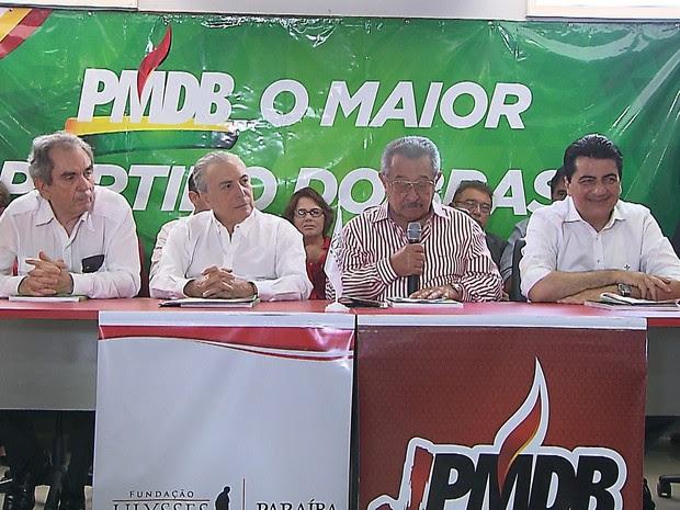 Michel Temer está em João Pessoa para evento do PMDB (Foto: Reprodução/ TV Cabo Branco)