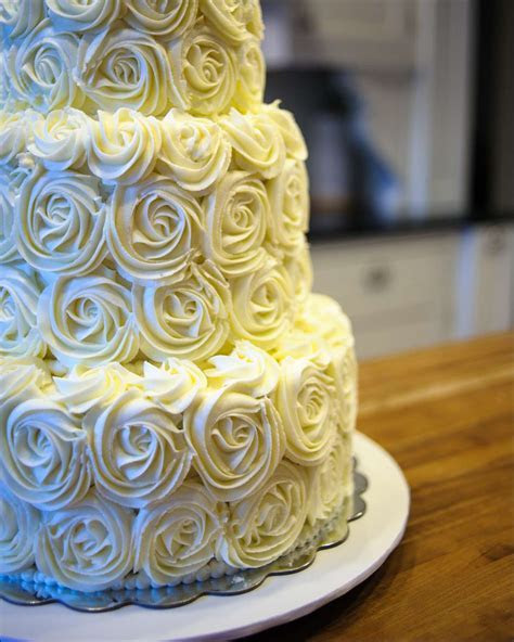 Tiered Rosette Wedding Cake   Gray Barn Baking