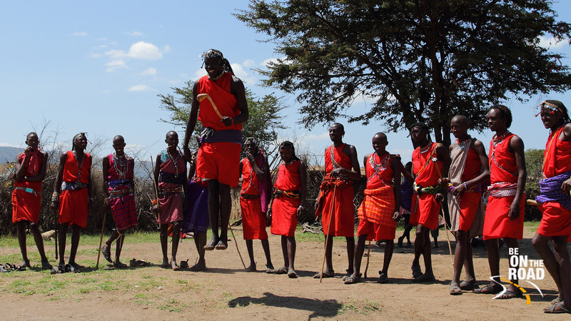 A march past like traditional Maasai dance performed by the warriors of the II-Oodokilani