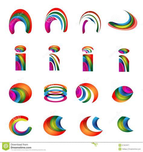 vector alphabet vibrant logo designs version  stock