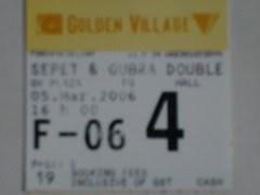 Sepet Gubra Double Bill Ticket Stub