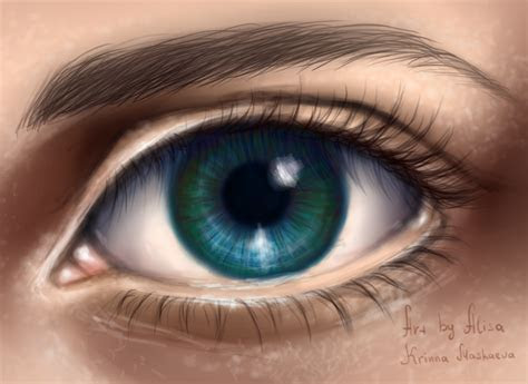 blue eye digital  krinna  deviantart