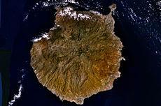 Fotografía de satélite de Gran Canaria